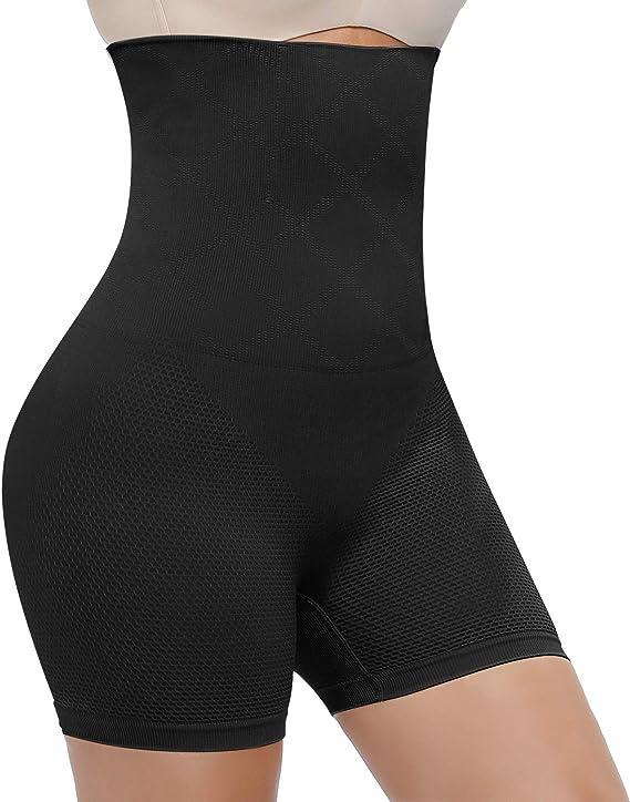 High Waisted Body Shaper Shorts,Womens Slimming Waist Tummy Control Bodysuit