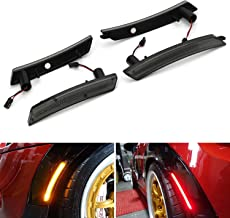 iJDMTOY Smoked Lens Amber/Red Full LED Side Marker Light Kit For 2007-2013/14 MINI Cooper R55 R56 R57 R58 R59 R60 R61, Powered by Total 160-SMD LED, Replace OEM Sidemarker Lamps
