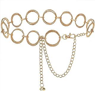 حزام سلسلة O- Ring للنساء الفتيات حزام خصر معدني ربط سلسلة حزام للفساتين من باوكيلان