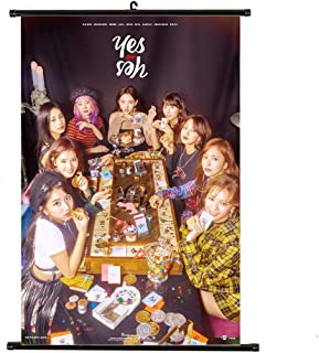 Youyouchard Kpop Twice YES or YES Wall Scroll Poster Twice Official Postcard Twice Poster, Decorate Your Room(H01)