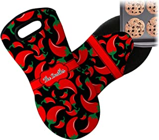 RNK Shops Chili Peppers Neoprene Oven Mitt (Personalized)