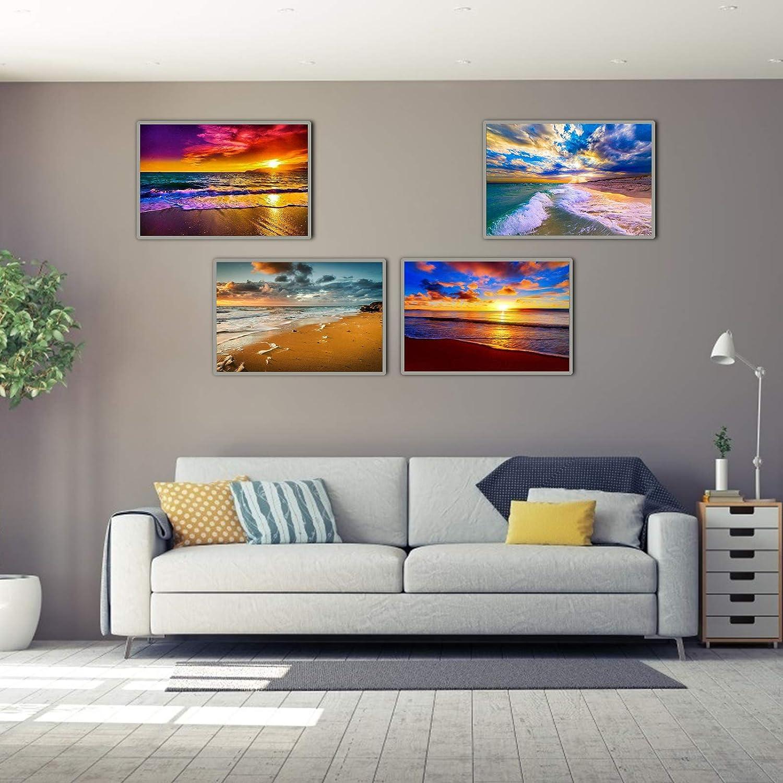 decorazione per la casa fai da te 4 confezioni di kit per pittura con diamanti 5D kit di pittura con strass e strass 30 x 40 cm