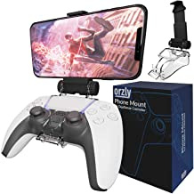 Orzly PS5 Controller Mobile Gaming Clip, DualSense Controller Phone Mount Adjustable Phone Holder Clamp Compatible with Pl...