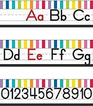 Schoolgirl Style   Just Teach Manuscript Alphabet Line Bulletin Board Set   Printable