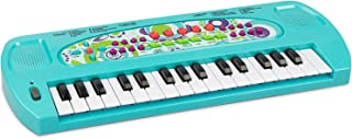 aPerfectLife Kids Keyboard, 32 Keys Multifunction Electronic Kids Piano Keyboard Musical Instrument for Kids with Microphone (Blue)