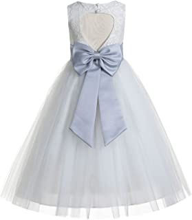 21ecd5c0e10 ekidsbridal Floral Lace Heart Cutout Ivory Flower Girl Dresses First  Communion Dresses Baptism Dress 172T