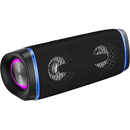 EDUPLINK Men mart Ⅱ Louder Bluetooth Portable Speaker IP67 Waterproof Wireless 24 Hour Long time Battery Life Built in Mic Black