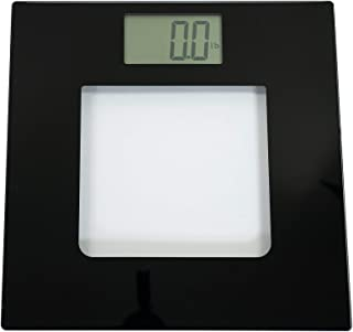 Extra Wide Digital Glass Talking Bathroom Scale Visual & Voice Display Scale- 395 Pounds Max- Wide Width Tamper Glass-Large LCD Display-Tap Auto On & Off Modern
