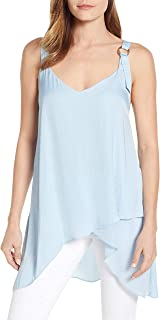 Vince Camuto High/Low Tank, Size Small - Blue