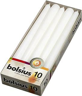 شمع های TIP سفید 10 اینچی BOLSIUS (10 در یک جعبه) (همچنین در جعبه 100 موجود نیست)
