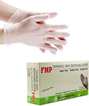 [100 Pack] Disposable Vinyl Gloves, X Large Size, Non-Sterile, Powder Free, Smooth Touch, Food Service Grade