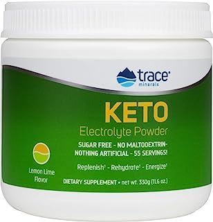 Trace Minerals Keto Electrolyte Powder Lemon Lime