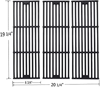 GGC Grill Grates Replacement for Chargriller 3001,5050,3008,3030,3725,4000,5252,King Griller 3008, 5252 and Others, Set of 3-Pack Porcelain coated cast iron Cooking Grid Grates(19 3/4