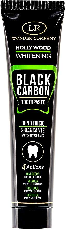 128 opinioni per Hollywood Whitening Black Carbon, dentifricio sbiancante al carbone vegetale a