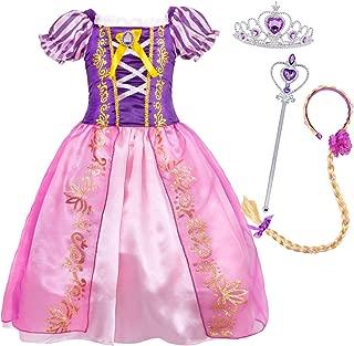 Cotrio Sofia Belle Mermaid Rapunzel Aurora Princess Dress Up Costumes Accessories Set