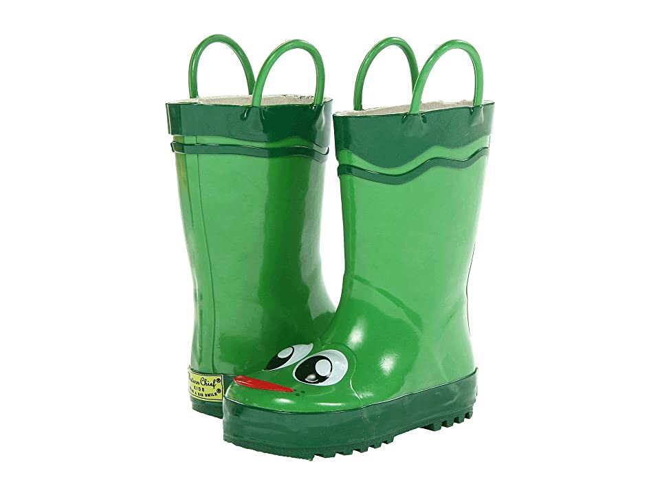 Western Chief Kids Frog Rainboot (Toddler/Little Kid/Big Kid) (Green) Boys Shoes