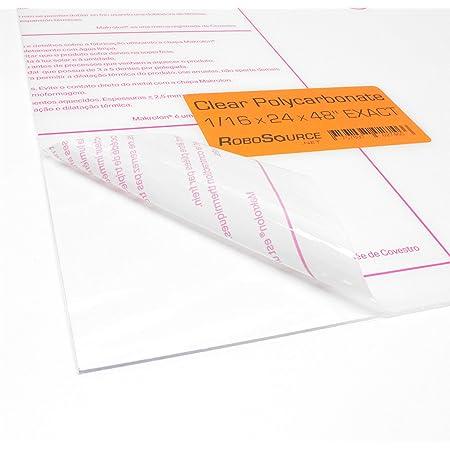 """1//16/"""" x 24/"""" x 48/"""" Clear Lexan Tuffak Makrolon Polycarbonate Sheet  .060"""""""