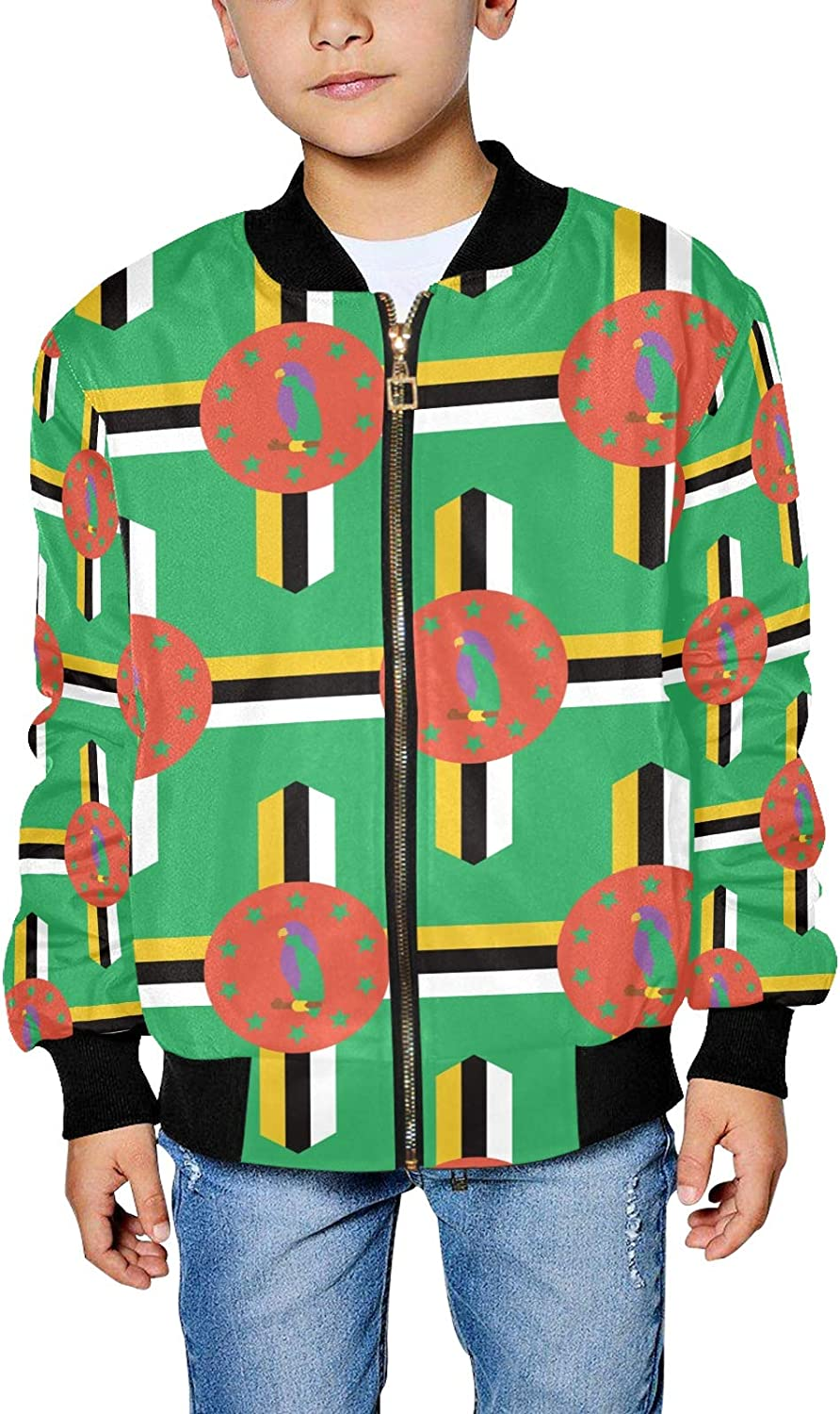 Dominica Flag Boy's Fees 70% OFF Outlet free Bomber Girl's Jacket