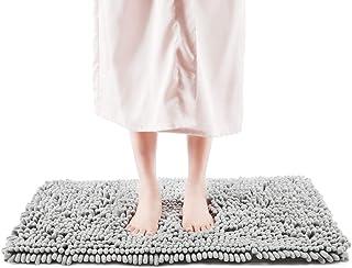 Freshmint Chenille Bath Rugs Extra Soft Fluffy and Absorbent Microfiber Shag Rug, Non-Slip Runner Carpet for Tub Bathroom ...