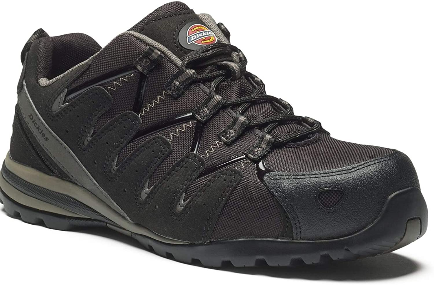 Dickies Tiber Composite Super Safety Trainers Strong Composite Toecap Non-Metallic Anti-Penetration Sole Lightweight Water-Resistant Mesh Uppers & Slip-Resistant Sole FC23530
