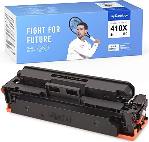 wholesale MYCARTRIDGE Compatible Toner online sale Cartridge Replacement for HP 410X CF410X Black Fit for Color Laserjet popular Pro MFP M477 M477fdw M477fnw M477fdn M452 M452dw M452nw M452dn M377dw (1 Pack) outlet sale
