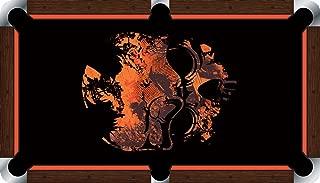 Pool Table Felt Billiard Cloth - VIVID - Grunge Skull