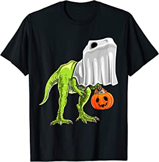 Halloween T Rex Dinosaur Ghost Trick or Treat Gift for Kids T-Shirt