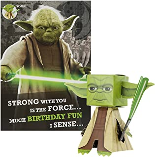 Hallmark Star Wars Build Your Own Yoda Birthday Card