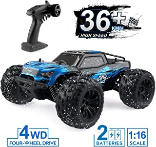 JJRC 1:16 Scale Rc Cars, 2.4G 4WD Remote Control Off Road Truck , 36km/h High-Speed Off-Road Bigfoot Truck RC Car G174, RC Electronic Monster Hobby Truck Buggy for Kids Adults (Blue)