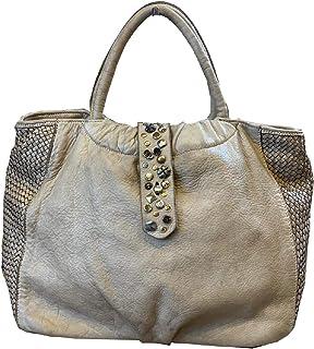 BZNA Bag Livia beige vintage Italy Designer Business Damen Handtasche Ledertasche Schultertasche Tasche Leder Shopper Neu