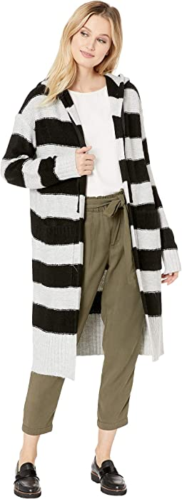 Rugby Hooded Long Cardi Sweater