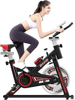 comprar comparacion SHUOQI Bicicleta estáticas para Fitness, Bici de Spinning, Calidad Profesional, Rueda de inercia bidireccional,Transmisión...