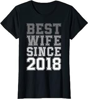 Womens Best Wife Since 2018 1 One Year Wedding Anniversary T-Shirt