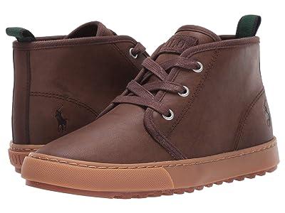 Polo Ralph Lauren Kids Chett (Little Kid) (Chocolate Burnished Tumbled) Kids Shoes