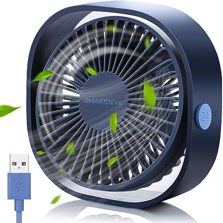 wei/ß Lecone Mini USB-Tischventilator 5-Zoll-360-Grad-Rotationsl/üfterabdeckung 3 Geschwindigkeiten Schreibtisch Tragbarer L/üfter mit LED-Licht Leistungsstarker Luftstrom Leiser Betrieb