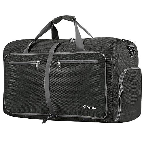 caf78e7acc06 Gonex 80L Foldable Travel Duffel Bag for Luggage Gym Sports