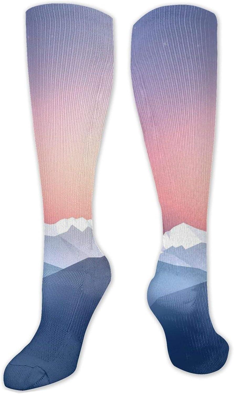 Snow Mountain Knee High Socks Leg Warmer Dresses Long Boot Stockings For Womens Cosplay Daily Wear
