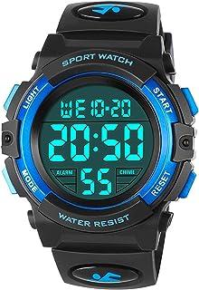 Orologi da bambino per ragazzi, orologio sportivo digitale impermeabile esterno con sveglia/cronometro, orologio da polso ...