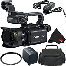 Canon XA15 Compact Professional Camcorder (2217C002)- Full HD with SDI, HDMI and Composite Output - Bundle with Carrying Case + More