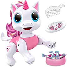 Power Your Fun Robo Pets Unicorn Toy - Remote Control Robot Pet Toy, Interactive Hand Motion Gestures, Walking, and Dancin...