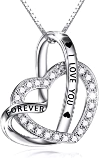 Best two hearts forever one sterling silver necklace Reviews
