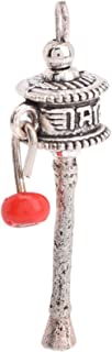 BHARAT HAAT Beautiful Prayer Wheel with Red Bead Pendant Auspicious BH05436