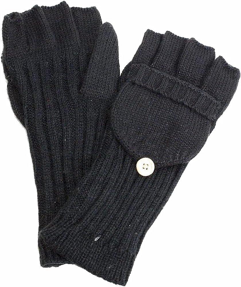 Scala Women's Black Knitted Gloves