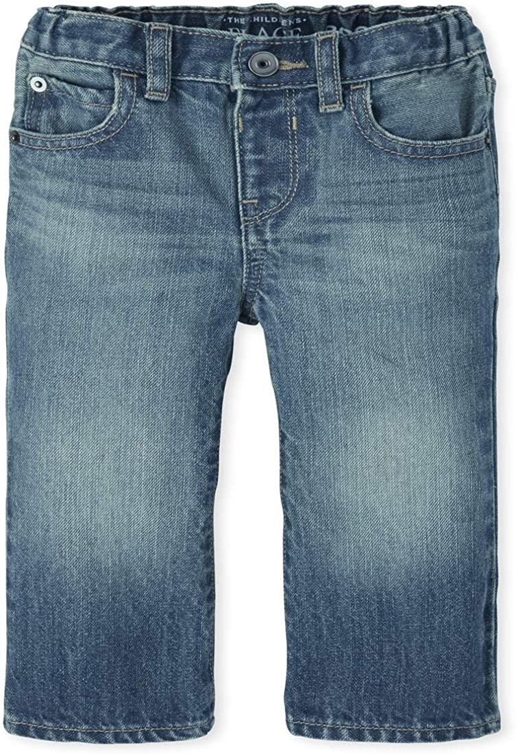 The Childrens Place Boys Baby and Toddler Basic Bootcut Jeans