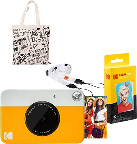 new arrival Kodak PRINTOMATIC Instant Print popular Camera (Yellow) popular Starter Kit with Tote Bag outlet online sale