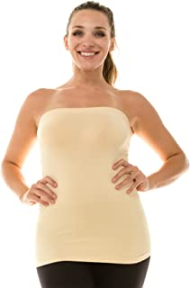 Kurve Plus Size The Excellent Stretch Long Bandeau Tube Top (L/XL, XL/XXL) -Made in USA-