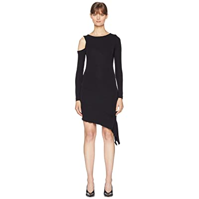 Nicole Miller Exposed Shoulder Dress (Black) Women