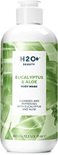 Body Wash, Eucalyptus and Aloe Shower Gel by H2O+ Beauty, Cleanses and Refreshes, 12.2 Ounce