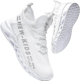 VOPPU أحذية الأولاد للبنات تنفس الجري الرياضة طلاب الرياضة خفيفة الوزن عدم الانزلاق أحذية التنس الرياضية للأطفال