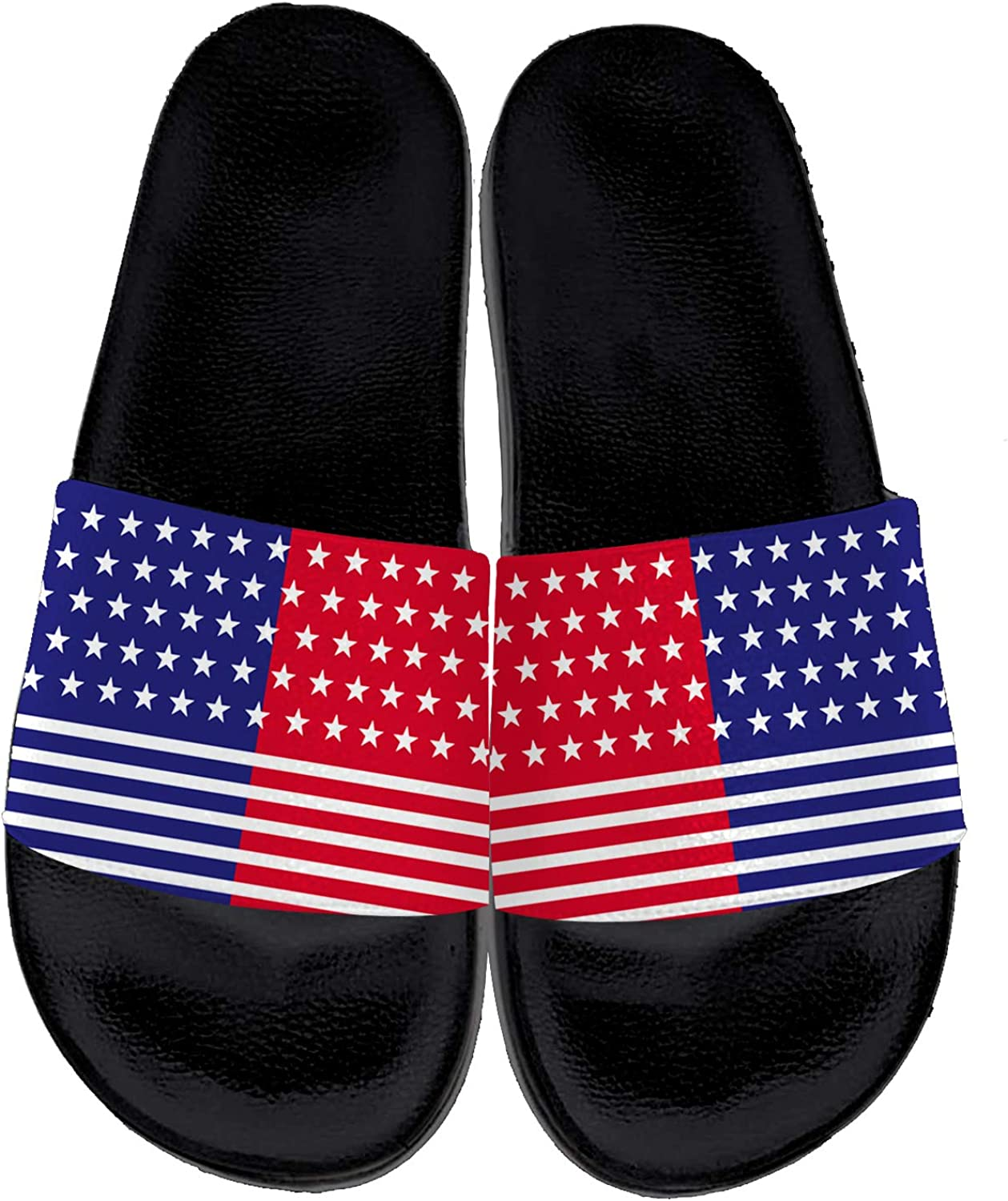 Uminder American Flag Slippers for Men Women Personalited Casual